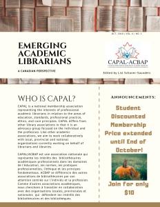 Emerging Academic Librarians V6 N1